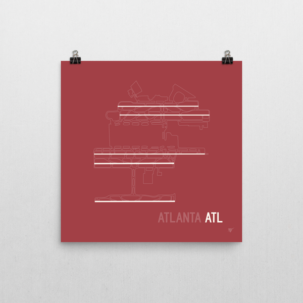 "RWY23 ATL Atlanta Airport Runway Diagram Poster Wall 10""x10"""