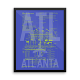 "RWY23 ATL Atlanta Airport Diagram Framed Poster 16""x20"" Wall"