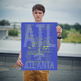 "RWY23 - ATL Atlanta Airport Diagram Poster - Aviation Art - Birthday Gift, Christmas Gift, Home and Office Decor - 18""x24"" Person"