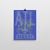 "RWY23 - ATL Atlanta Airport Diagram Poster - Aviation Art - Birthday Gift, Christmas Gift, Home and Office Decor - 12""x16"" Wall"