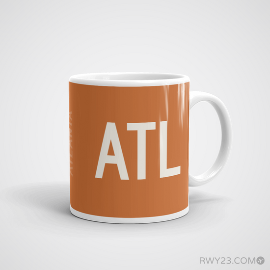 ab47c500541 ATL Atlanta Airport Coffee Mug - Runway Diagram Design