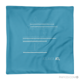 RWY23 - ATL Atlanta Throw Pillow - Airport Runway Diagram Design - Aviation Gift Travel Gift