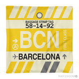 RWY23 - BCN Barcelona, Spain Airport Code Throw Pillow - Aviation Gift Travel Gift