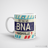 RWY23 - BNA Nashville, Tennessee Airport Code Coffee Mug - Birthday Gift, Christmas Gift - Left