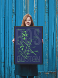 "RWY23 BOS Boston Airport Diagram Framed Poster 18""x24"" Person"