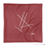 RWY23 - BOS Boston Throw Pillow - Airport Runway Diagram Design - Aviation Gift Travel Gift