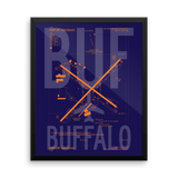 "RWY23 - BUF Buffalo Airport Diagram Framed Poster - Aviation Art - Birthday Gift, Christmas Gift, Home and Office Decor - 16""x20"" Wall"