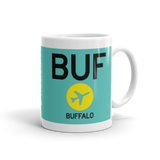 RWY23 BUF Buffalo Airport Diagram Coffee Mug