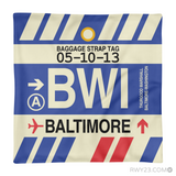 RWY23 - BWI Baltimore-Washington, Maryland Airport Code Throw Pillow - Aviation Gift Travel Gift