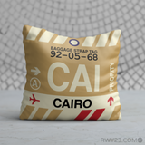 RWY23 - CAI Cairo, Egypt Airport Code Throw Pillow - Birthday Gift Christmas Gift