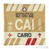 RWY23 - CAI Cairo, Egypt Airport Code Throw Pillow - Aviation Gift Travel Gift