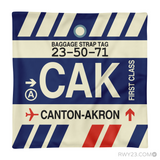 RWY23 - CAK Canton-Akron, Ohio Airport Code Throw Pillow - Aviation Gift Travel Gift