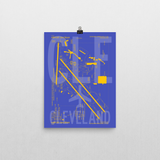 "RWY23 - CLE Cleveland Airport Diagram Poster - Aviation Art - Birthday Gift, Christmas Gift, Home and Office Decor - 12""x16"" Wall"