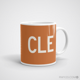 RWY23 - CLE Cleveland Coffee Mug - Airport Code and Runway Diagram Design - Aviation Gift Birthday Gift - Right