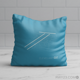 RWY23 - CLE Cleveland Throw Pillow - Airport Runway Diagram Design - Birthday Gift Christmas Gift