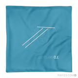 RWY23 - CLE Cleveland Throw Pillow - Airport Runway Diagram Design - Aviation Gift Travel Gift