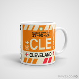 RWY23 - CLE Cleveland Airport Code Coffee Mug - Graduation Gift, Housewarming Gift - Right