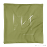 RWY23 - CLT Charlotte Throw Pillow - Airport Runway Diagram Design - Aviation Gift Travel Gift