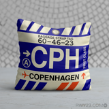 RWY23 - CPH Copenhagen, Denmark Airport Code Throw Pillow - Birthday Gift Christmas Gift