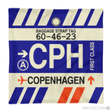 RWY23 - CPH Copenhagen, Denmark Airport Code Throw Pillow - Aviation Gift Travel Gift