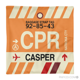 RWY23 - CPR Casper, Wyoming Airport Code Throw Pillow - Aviation Gift Travel Gift