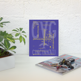 "RWY23 - CVG Cincinnati Airport Diagram Poster - Aviation Art - Birthday Gift, Christmas Gift, Home and Office Decor - 8""x10"" Desk"