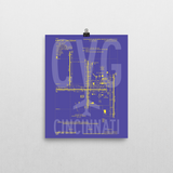 "RWY23 - CVG Cincinnati Airport Diagram Poster - Aviation Art - Birthday Gift, Christmas Gift, Home and Office Decor  - 8""x10"" Wall"