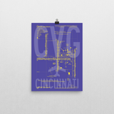 "RWY23 - CVG Cincinnati Airport Diagram Poster - Aviation Art - Birthday Gift, Christmas Gift, Home and Office Decor - 12""x16"" Wall"