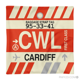 RWY23 - CWL Cardiff, Wales (UK) Airport Code Throw Pillow - Aviation Gift Travel Gift