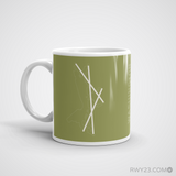 RWY23 - DCA Washington Coffee Mug - Airport Code and Runway Diagram Design - Christmas Gift Travel Gift - Left