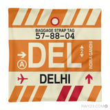 RWY23 - DEL Delhi, India Airport Code Throw Pillow - Aviation Gift Travel Gift