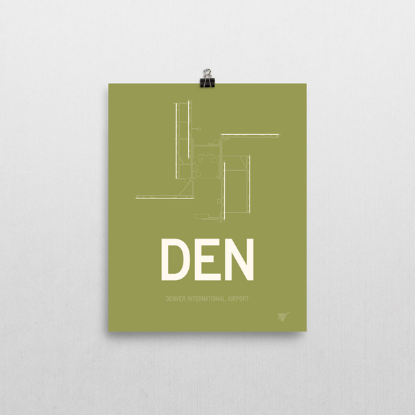 Den Denver Runway Poster Cool Airport Code Stuff Rwy23