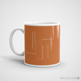 RWY23 - DEN Denver Coffee Mug - Airport Code and Runway Diagram Design - Christmas Gift Travel Gift - Left