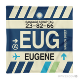 RWY23 - EUG Eugene, Oregon Airport Code Throw Pillow - Aviation Gift Travel Gift