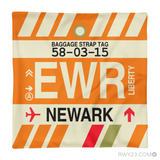 RWY23 - EWR Newark, New Jersey Airport Code Throw Pillow - Aviation Gift Travel Gift