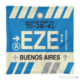 RWY23 - EZE Buenos Aires, Argentina Airport Code Throw Pillow - Aviation Gift Travel Gift