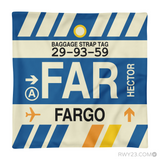 RWY23 - FAR Fargo, North Dakota Airport Code Throw Pillow - Aviation Gift Travel Gift