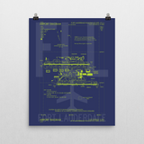 "RWY23 FLL Fort Lauderdale Airport Diagram Poster 16""x20"" Wall"