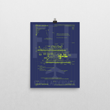 "RWY23 FLL Fort Lauderdale Airport Diagram Poster 12""x16"" Wall"