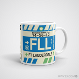 RWY23 - FLL Fort Lauderdale, Florida Airport Code Coffee Mug - Graduation Gift, Housewarming Gift - Right