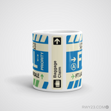 RWY23 - FLL Fort Lauderdale, Florida Airport Code Coffee Mug - Teacher Gift, Airbnb Decor - Side
