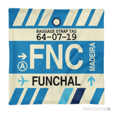 RWY23 - FNC Funchal, Madeira Airport Code Throw Pillow - Aviation Gift Travel Gift