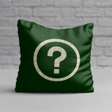 RWY23 Information NPS Map Symbol Pictographs Throw Pillow (Dark Green) - Front
