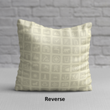 RWY23 Information Pillow - National Parks Service Symbols Design - Reverse