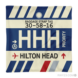RWY23 - HHH Hilton Head Island, South Carolina Airport Code Throw Pillow - Aviation Gift Travel Gift