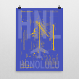 "RWY23 HNL Honolulu Airport Diagram Poster 18""x24"" Wall"