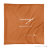 RWY23 - HNL Honolulu Throw Pillow - Airport Runway Diagram Design - Aviation Gift Travel Gift