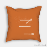 RWY23 - HNL Honolulu Airport Runway Diagram Design Throw Pillow - Housewarming Gift Aviation Gift