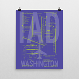 "RWY23 IAD Washington (Dulles) Airport Diagram Poster 16""x20"" Wall"
