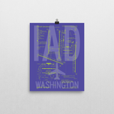"RWY23 IAD Washington (Dulles) Airport Diagram Poster 8""x10"" Wall"